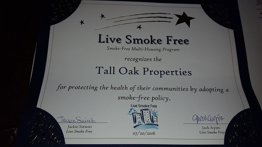live smoke free award
